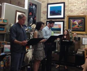 "Williamston Theatre did a reading of Joseph Zettelmaier's new play ""Campfire"" at the Renegade Theatre"